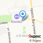 Метеорит на карте Белгорода