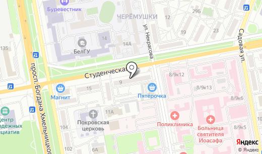 Радуга. Схема проезда в Белгороде