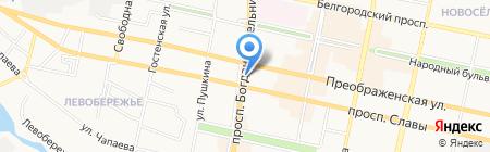 Богданка 38 на карте Белгорода
