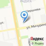 Дворик красоты на карте Белгорода