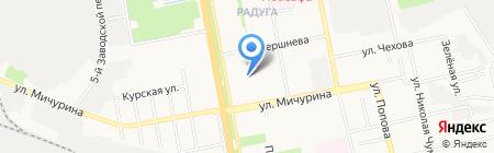 Объектив на карте Белгорода