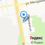 Беркут на карте Белгорода