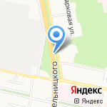 Хафнер на карте Белгорода