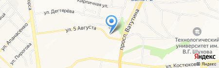 Банька на карте Белгорода