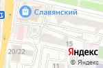 Схема проезда до компании Цветные Сны в Белгороде
