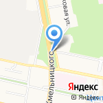 Оранжевый остров на карте Белгорода