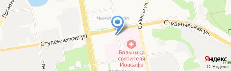 Луч на карте Белгорода