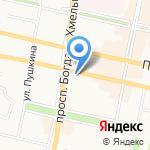 Заря на карте Белгорода