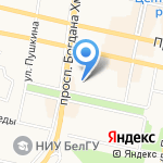 Белгородская и Старооскольская епархия на карте Белгорода