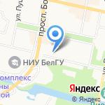 Нефертити на карте Белгорода