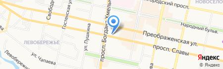 Лулу на карте Белгорода