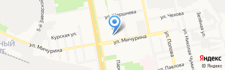 Лютик на карте Белгорода