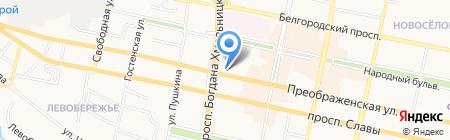 Управление лесами Белгородской области на карте Белгорода
