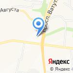 Южное на карте Белгорода