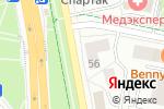 Схема проезда до компании Альфа Офис в Белгороде