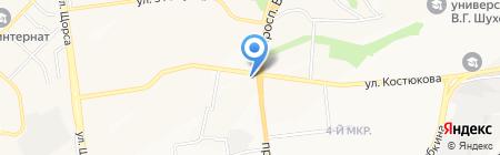 Ирис на карте Белгорода