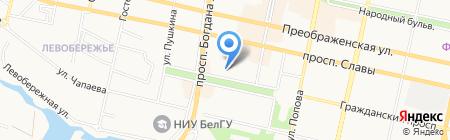 Департамент здравоохранения и социальной защиты населения Белгородской области на карте Белгорода