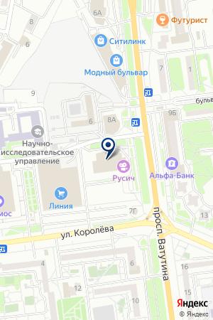 ФИЛИАЛ В Г. БЕЛГОРОД БАНК ВТБ 24 на карте Белгорода