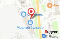 Схема проезда до компании Модный Бульвар в Белгороде
