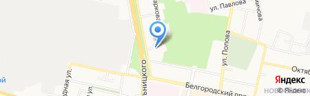 Спартак на карте Белгорода