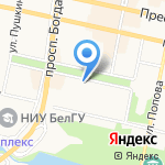 Шоколадница на карте Белгорода