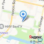 Средняя общеобразовательная школа №4 на карте Белгорода