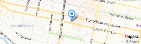 Шелк на карте Белгорода