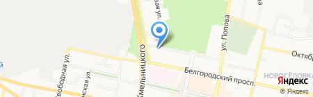 Большие люди на карте Белгорода