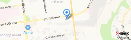 СКВ сити на карте Белгорода
