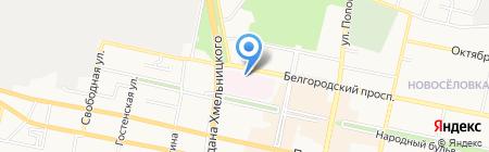 Городская муниципальная клиническая больница №1 на карте Белгорода