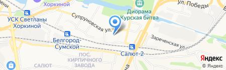 Планета Потолков на карте Белгорода