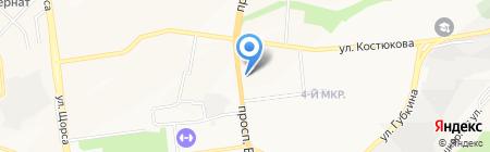 Железнодорожная касса на карте Белгорода