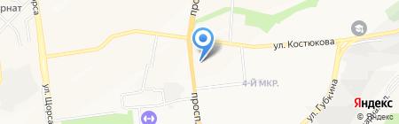 Белошвейка на карте Белгорода