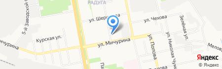 Бел-Сахавтомат на карте Белгорода
