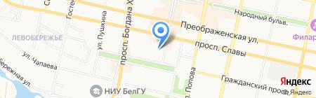 Детский сад №36 Росинка на карте Белгорода