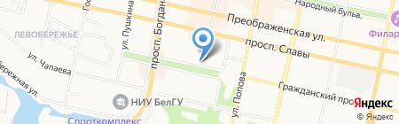 Люкс+Сток на карте Белгорода