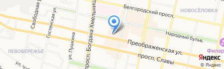 Преображенский на карте Белгорода