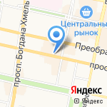 Бонжур на карте Белгорода