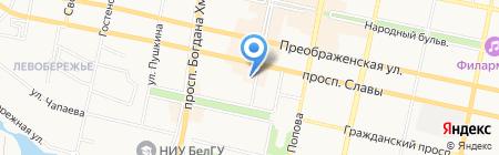 Гретта на карте Белгорода