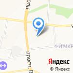 Диана на карте Белгорода