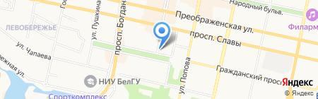Намасте на карте Белгорода