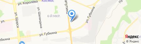 Ателье на проспекте Ватутина на карте Белгорода