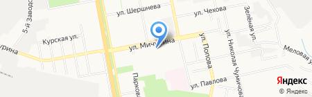 Лицей №32 на карте Белгорода