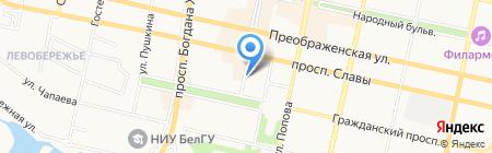 Сто полок на карте Белгорода