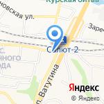 Медоежка на карте Белгорода