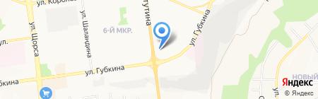 Белый город на карте Белгорода