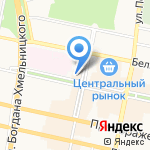 Камея на карте Белгорода