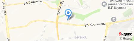 Виват на карте Белгорода