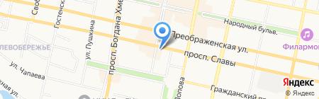 Март на карте Белгорода