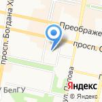 Рулька на карте Белгорода